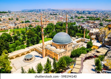 The skyline of Sanliurfa as viewed from the castle, Turkey