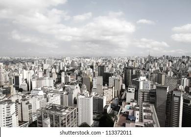 Skyline of Sao Paulo, Brazil, South America.