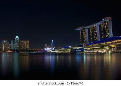 Skyline Singapore Marina Bay