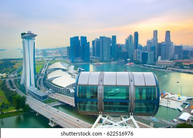 Skyline of Singapore, view from Singapore Flyer