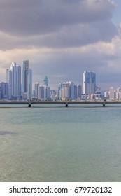 The skyline and skyscrapers in Panama City, Panama