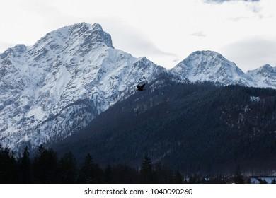 Skyline snow mountain