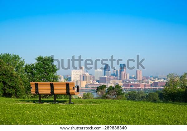 Skyline of St, Paul in Minnesota, USA