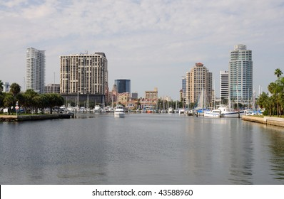 Skyline of St. Petersburg in Florida USA