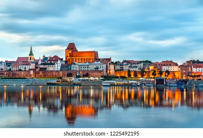 Skyline of Torun old town, UNESCO world heritage in Poland
