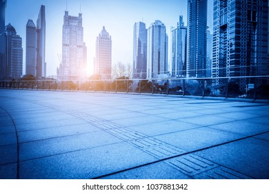 The skyline of the urban architectural landscape in Lujiazui, the Bund, Shanghai