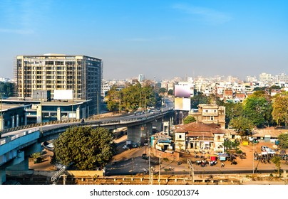 Skyline of Vadodara, formerly known as Baroda, the third-largest city in Gujarat state of India