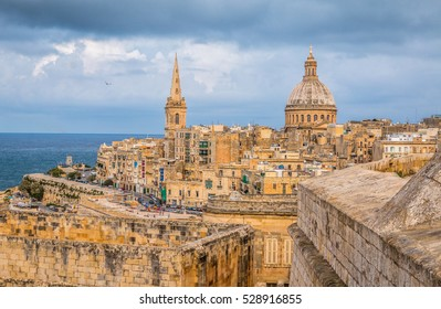 Skyline of Valleta the capital of Malta