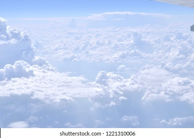 Skyline View above the Clouds from air plane
