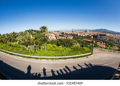 Skyline view of the city of Florence from Michelangelo Square