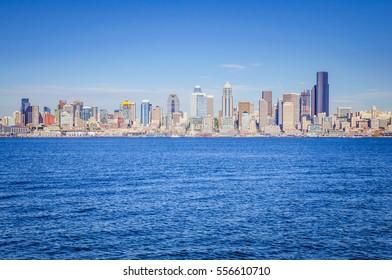 Skyline view on Seattle