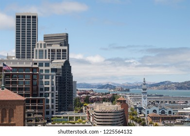 Skyline view of a part of San Francisco.