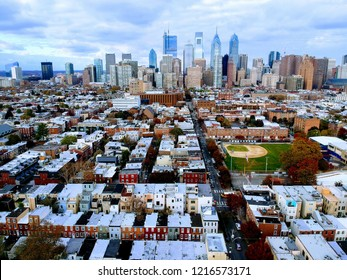 Skyline View of Philadelphia from above