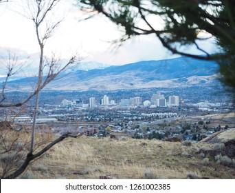 Skyline view in Reno, Nevada.