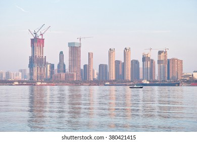 Skyline in Wuhan, Hubei, China.