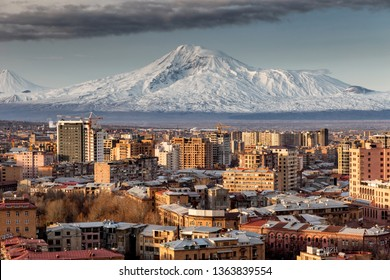 Skyline in Yerevan Armenia