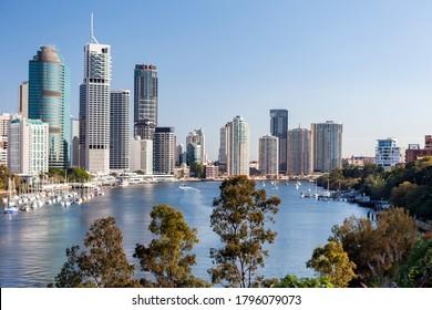 Skylines of Brisbane city, Australia