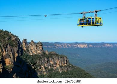 Skyrail cable car at Blue Mountains near Sydney, Australia. 14 MAY 2016.