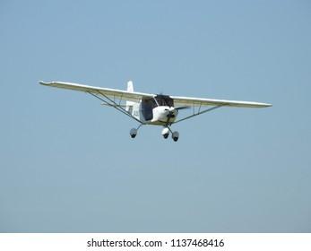 Skyranger Microlight Landing at Otherton Airfield.
