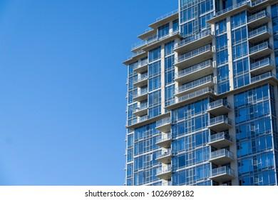 Skyrise Apartment building with Blue Sky