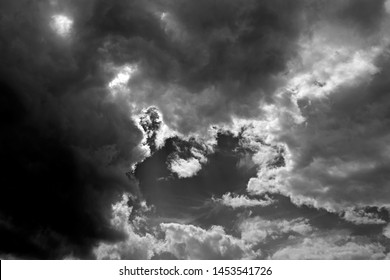 Skyscape / Germany: Impressive cloudscape over Eastern Thuringia on a tempestuous afternoon in July