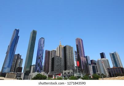 Skyscraper apartment cityscape Melbourne Australia