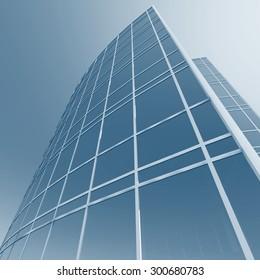 Skyscraper building. Architectural background
