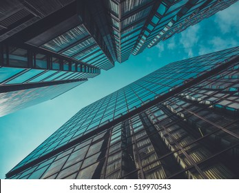 Skyscraper Buildings and Sky View
