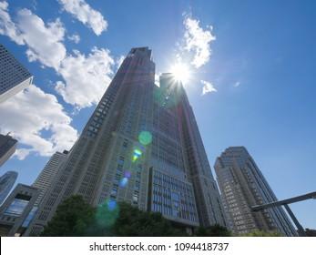 Skyscraper group in Shinjuku, Tokyo