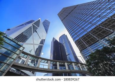 Skyscraper of Hong Kong city