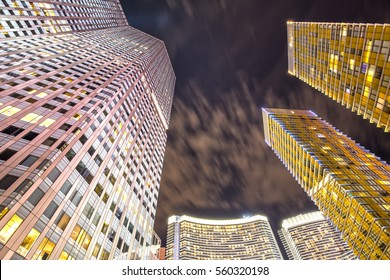 Skyscraper Hotels in Las Vegas at Night