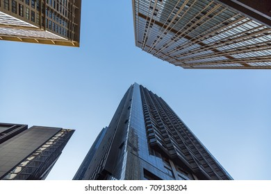 Skyscraper from a low angle view in Shanghai,China.