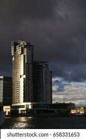 Skyscraper  near sea