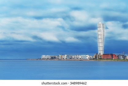 Skyscraper on the waterfront in Copenhagen, Denmark