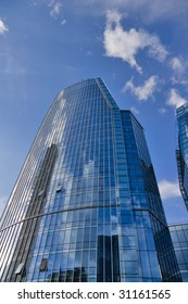 Skyscraper reflected sky