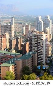 skyscraper, skyline of Benidorm, Costa Blanca,  Spain