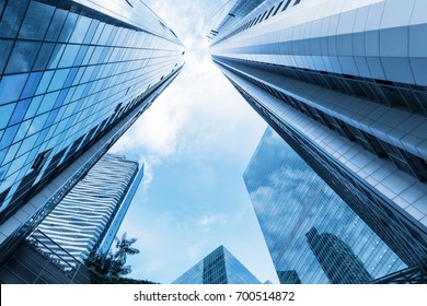 Skyscraper and tower of business center., Business concept.
