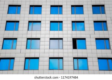 Skyscraper with windows.