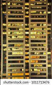 A skyscraper windows in the city