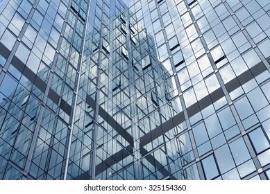 skyscraper windows reflections