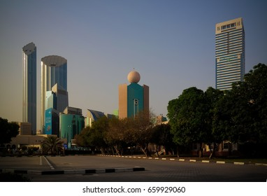 Skyscrapers in the Abu Dhabi city center 02-05-2015 Abu Dhabi  UAE
