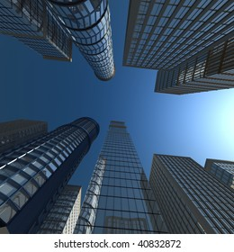 Skyscrapers against the sky