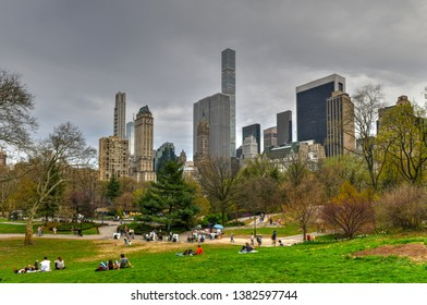 Skyscrapers along Central Park South. Also known as Billionaries Row in New York City.
