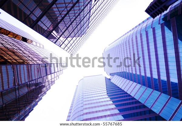 it is a skyscrapers background for texture