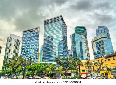 Skyscrapers at Bonifacio Global City in Taguig - Metro Manila, Philippines