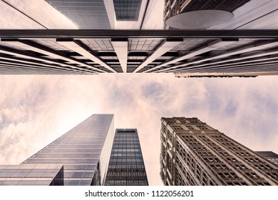 Skyscrapers buildings New York USA