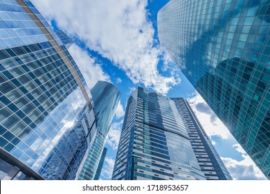 Skyscrapers in the business city center. Moscow. Russia.