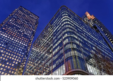 Skyscrapers in Canary Warf - one of the two major business districts in London
