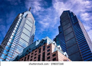 Skyscrapers in Center City, Philadelphia, Pennsylvania.