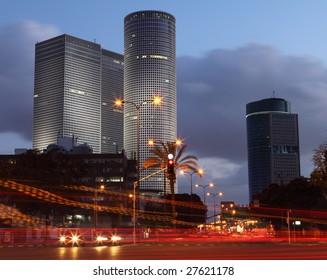Skyscrapers in the center of Tel Aviv
